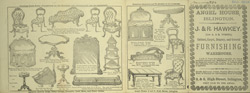 Advert for J. & R. Hawley, furniture store